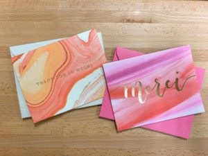 Greeting and Thank You cards from the June Peachy Box